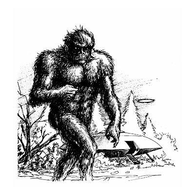 Witnesses Claim a Connection Between UFO Sightings and 'Bigfoot', Missouri--Giclee Print