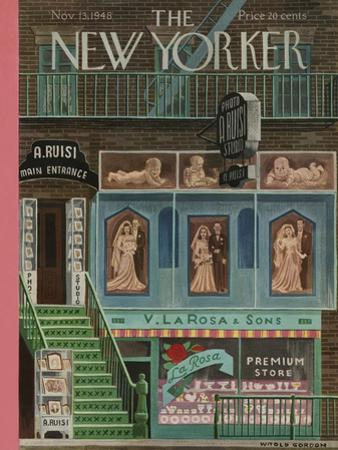 The New Yorker Cover - November 13, 1948 by Witold Gordon