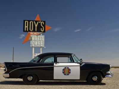 1956 Dodge Coronet Police Cruiser at Roys Motel and Cafe in Amboy