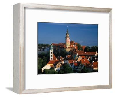 Castle, White Tower and St. Jost Church, Cesky Krumlov, Czech Republic