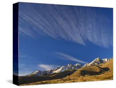 Cirrus Clouds over Eastern Sierra Nevada in Winter Seen from Buttermilk Road Near Bishop