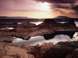 Lake Powell, Gunsight Butte and Bay from Romana Mesa, Navajo Mountain by Witold Skrypczak