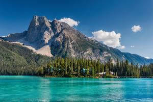Mount Burgess over Emerald Lake, Canadian Rockies, Yoho National Park, British Columbia, Canada by Witold Skrypczak
