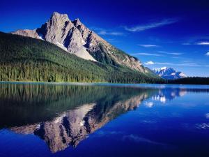 Reflection of Wapta Mountain on Emerald Lake, Yoho National Park, Canada by Witold Skrypczak