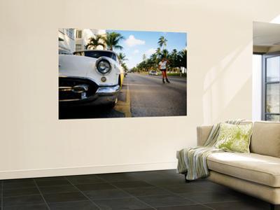 Roller Blader on Ocean Drive, Art Deco District, Miami Beach, Miami, Florida