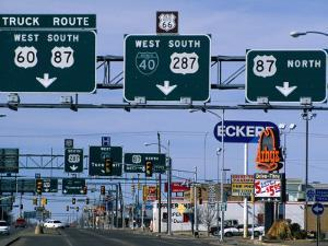 Route 66, Road Signs Amarillo Boulevard, Amarillo, Texas by Witold Skrypczak