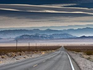 Spring Mountains in Nevada with Charleston Peak at Right by Witold Skrypczak