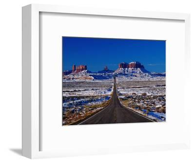 Us 163 Highway in Winter, Seen from Monument Pass, Monument Valley, USA