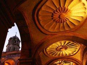 Vaults in Main Courtyard at Ex Convento De San Francisco, Queretaro, Mexico by Witold Skrypczak