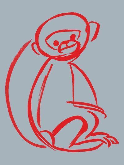 Witty Monkey--Giclee Print