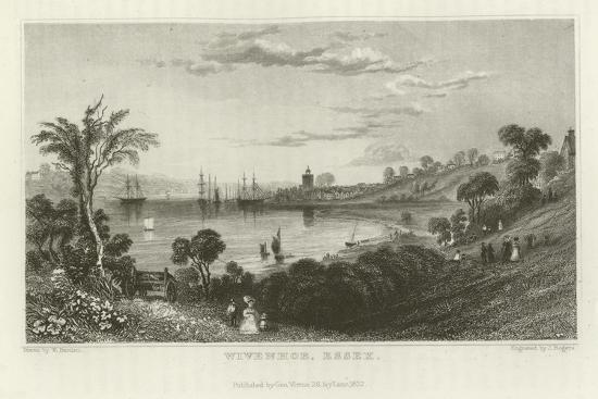 Wivenhoe, Essex-William Henry Bartlett-Giclee Print