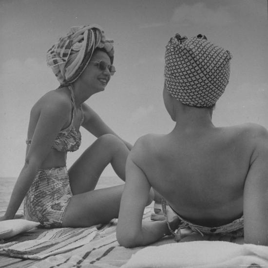 Wives of Men in the Us Army and Navy Relaxing in the Sun-Peter Stackpole-Photographic Print