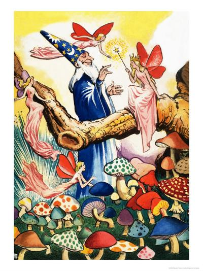 Wizard in the Mushroom Forest-Eduardo Teixeira Coelho-Giclee Print