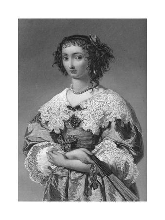 Henrietta Maria of France (1609-166), Queen Consort of King Charles I, 1851
