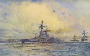 Benbow Warship by WL Wyllie