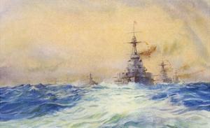 Iron Duke Warship by WL Wyllie
