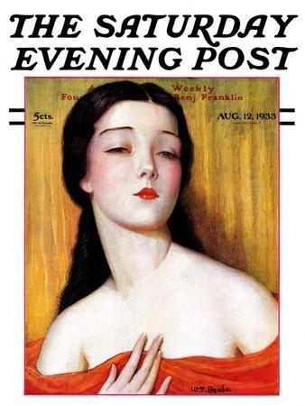 """Exotic Woman,"" Saturday Evening Post Cover, August 12, 1933"