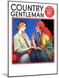 """""""Fortune Teller,"""" Country Gentleman Cover, March 1, 1934 by Wladyslaw Benda"""
