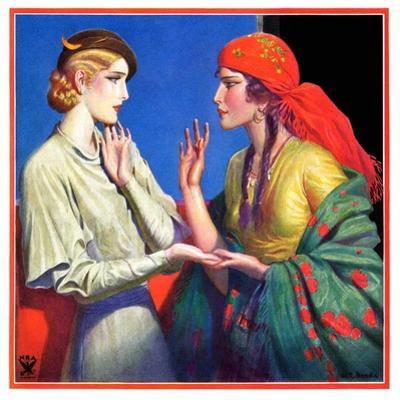 """""""Fortune Teller,""""March 1, 1934 by Wladyslaw Benda"""