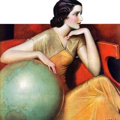 """Woman and Globe,""May 12, 1934"