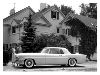WM Clay Ford Lincoln Continental, 1955--Giclee Print
