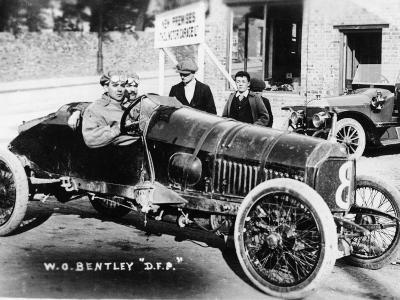 Wo Bentley at the Wheel of His Dfp Car, 1914--Photographic Print