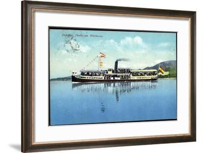 Wörthersee, Salondampfer Thalia in Fahrt, Fahnen--Framed Giclee Print