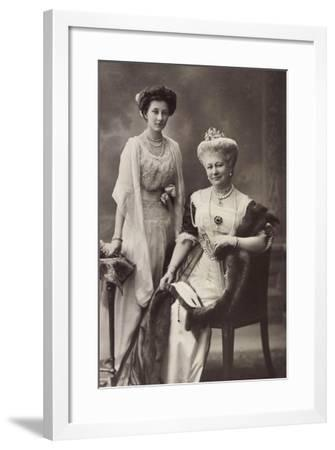 Wohlfahrts Postkarte, Kronprinzessin Luise, Victoria--Framed Giclee Print