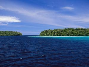 Calm Blue Waters Between Two Tropical Islands by Wolcott Henry