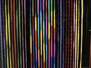 Colorful Strings in a Shop in Manila by Wolcott Henry