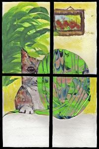 Cat in the Window by Wolf Heart Illustrations
