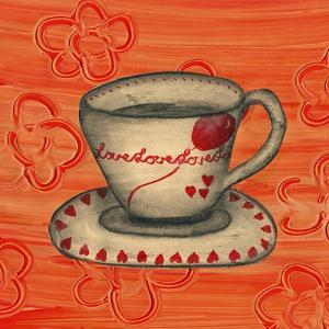 Love Tea Cup by Wolf Heart Illustrations