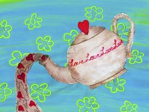 Love Tea Pot by Wolf Heart Illustrations