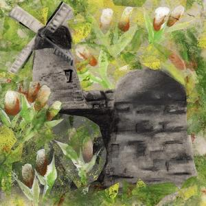 Windmill and Flowers by Wolf Heart Illustrations