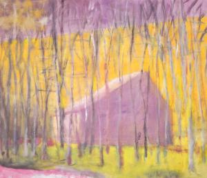 Saltbox Barn, 2002 by Wolf Kahn
