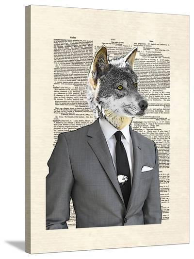 Wolf Of Wall Street-Matt Dinniman-Stretched Canvas Print