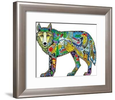 Wolf Standing-Sue Coccia-Framed Giclee Print