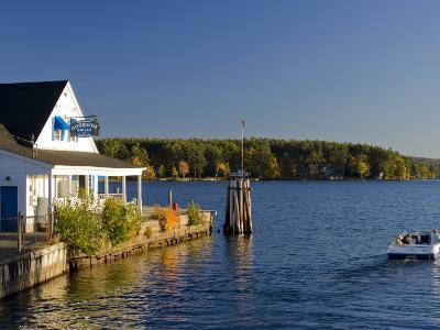 Wolfeboro Dockside Grille on Lake Winnipesauke, Wolfeboro, New Hampshire, USA-Jerry & Marcy Monkman-Photographic Print