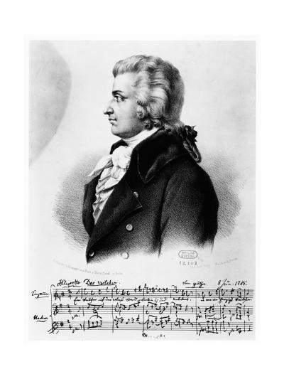 Wolfgang Amadeus Mozart (1756-179), C1790--Giclee Print