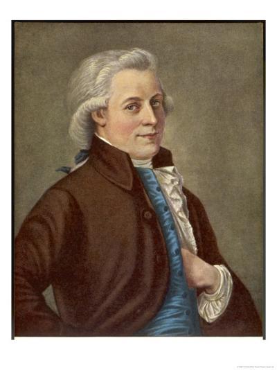 Wolfgang Amadeus Mozart Austrian Composer-Tischbein-Giclee Print