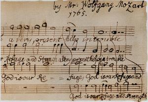 Mozart: Motet Manuscript by Wolfgang Amadeus Mozart