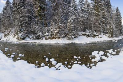 The Ammer in Winter with Ice and Snow