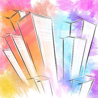 Wolkenkratzer- patila-Art Print