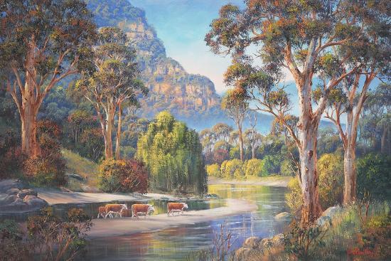 Wollondilly Autumn-John Bradley-Giclee Print