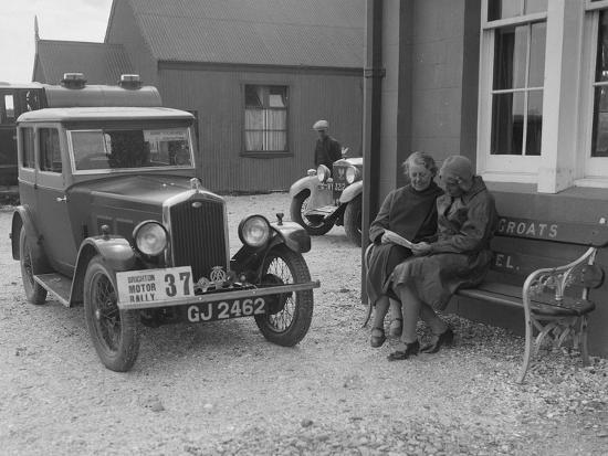 Wolseley Hornet of Morna Vaughan, B&HMC Brighton Motor Rally, John O'Groats, Scotland, 1930-Bill Brunell-Photographic Print