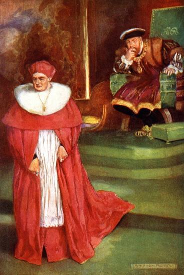 Wolsey's Interview with King Henry Viii-Stephen Reid-Giclee Print