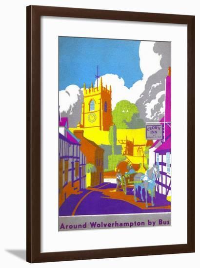 Wolverhampton Corporation Transport Guide Book Cover, Claverley, Staffordshire-1939-Mikeyashworth-Framed Art Print