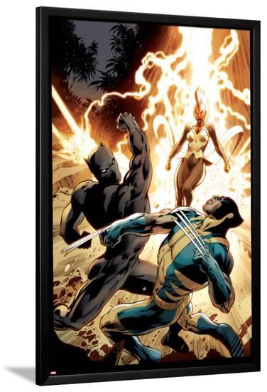 Wolverine #8 Cover: Wolverine, Storm, Black Panther-Alan Davis-Lamina Framed Poster