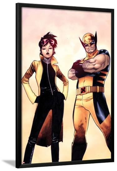 Wolverine and Jubilee No.1 Cover-Olivier Coipel-Lamina Framed Poster