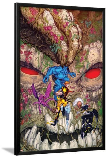 Wolverine and the X-Men #33 Cover: Beast, Wolverine, Summers, Rachel, Lockheed, Pryde, Kitty, Storm-Nick Bradshaw-Lamina Framed Poster